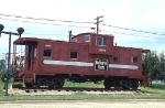 CB&Q 13593, Wide-Vision Caboose, NE-13, on Display