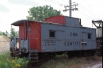 C&NW X261531 MofW Caboose on Troy Grove Branch work train
