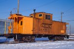 DRGW 01512, Wide-Vision caboose, at BRC Clearing Yard,