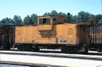 DRGW 01510, Wide-Vision Caboose, sits in storage at the Passenger Station