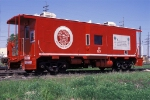 SP 125 Bay-Window Caboose wearing special Safety paint scheme