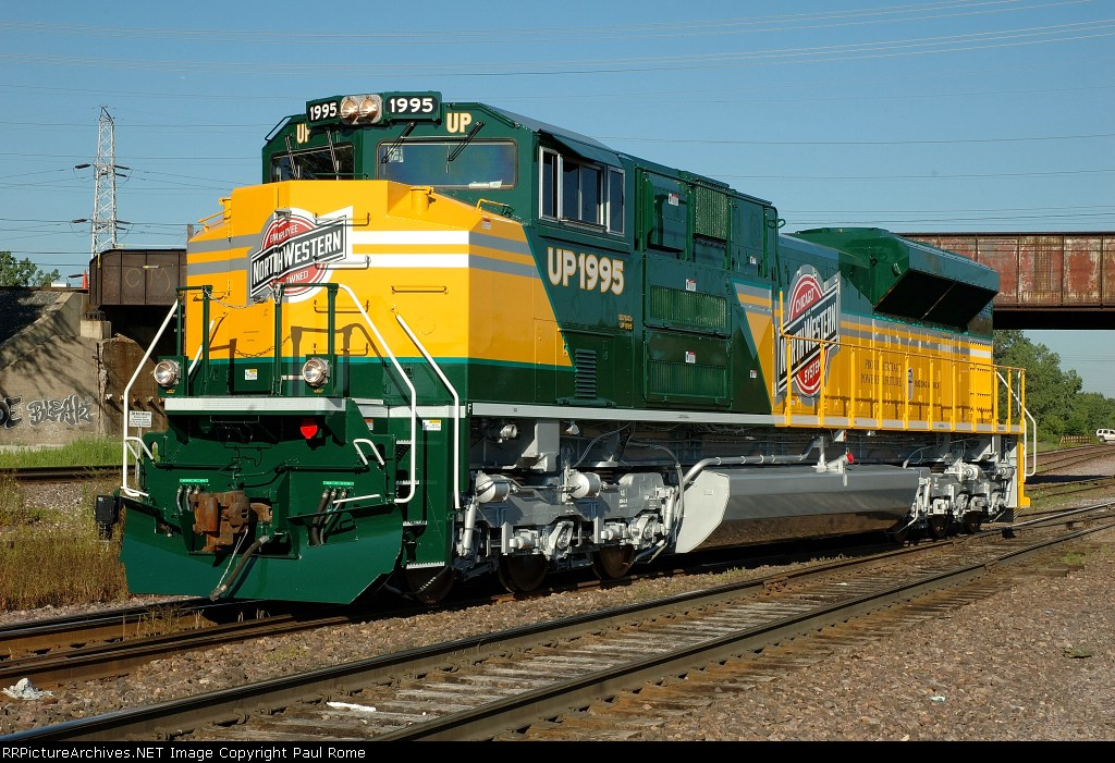 UP 1995, NEW CNW Heritage Unit, EMD SD70ACe, at the Proviso Yard