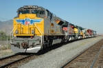 UP 8444, EMD SD70ACe, leads all 6-UPRR Heritage Units, all together for the first time