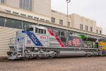 UP 1943, EMD SD70AH, The Spirit of Union Pacific honoring the US Armed Forces Veterans on display