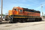 BNSF 2002, GP38-2, NRE rebuild from GP40, sits at Eola Yard