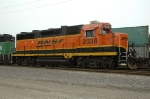 BNSF 2038, EMD GP38-2, ex GP35, works at Eola Yard