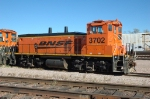 BNSF 3702, RCL equipped MP15, works the yard