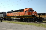 BNSF 6752, EMD SD40-2, Fresh NEW Repaint, awaiting delivery at Mid America Car