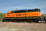 Fresh BNSF New Logo repaint, BNSF 2828, ex CB&Q 942 GP30, works Gibson Yard