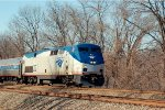 Amtrak P42 202 leads the eastbound Pennsylvanian