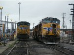 SD70ACe and GEVO in the Oakland Yard