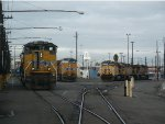 Locomotives in the Oakland Yard