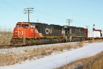 CN 5637 Taking the Camrose Sub South at Bretville Junction