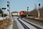CN 8876 East bound at the new west switch at Ardrossan