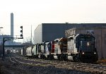 GLLX 3003 leads Z151 out of Wyoming yard