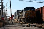 R170 pulls out of Wyoming yard as Z151 heads in