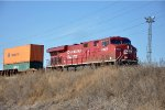 Eastbound intermodal rolls over BNSF