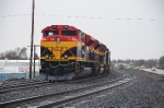 KCS 4164 NB consist in Bend Oregon on the Oregon Trunk Sub