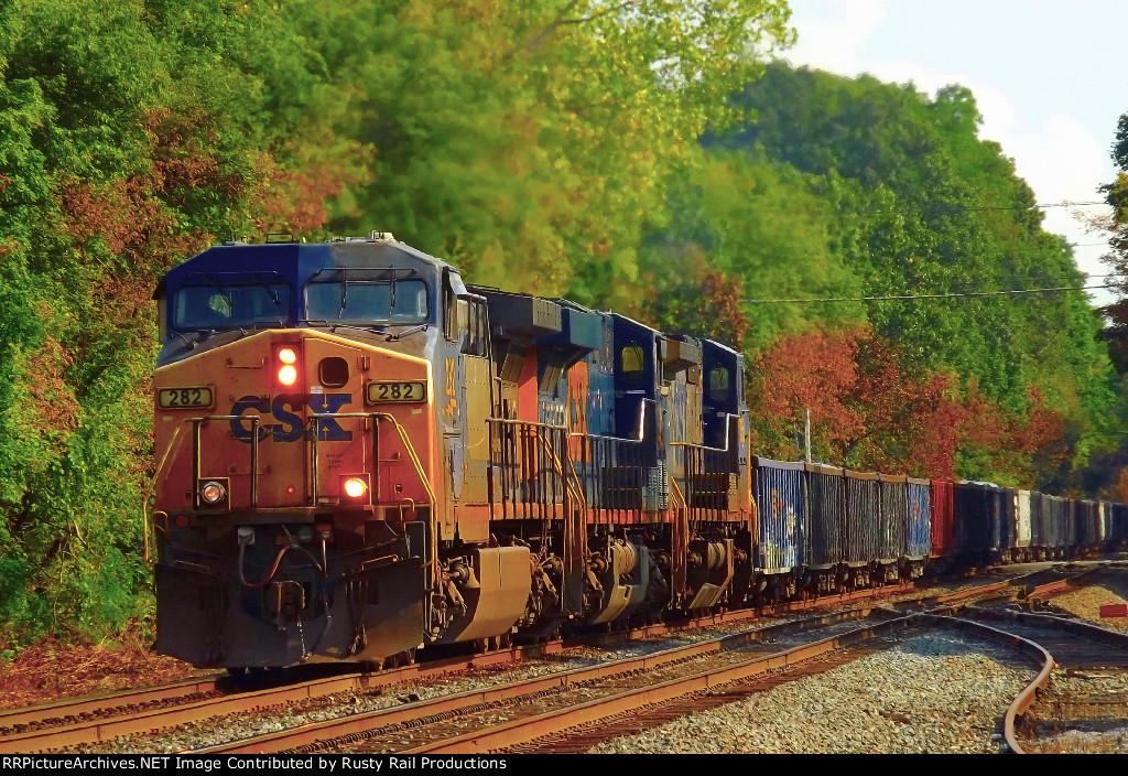 CSX loaded dirt train