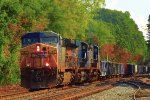 CSX loaded dirt train