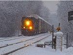 SD40-3 pullin hard on Q285 westbound auto rack train
