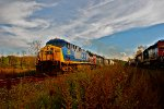 Q377 with CSX 523 on the point