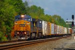 CSX Q382 races eastward through CP-VO
