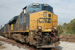 CSX ES-44AC #921 leads an eastbound coal train at the Passenger Station