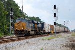 Boxcar Logo'ed CSX ES-44AC #967 +1 split the signals at Collier Yard with the northbound OJT