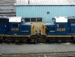 CSXT EMD GP40-2 6210 & 6238