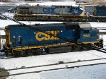 CSXT EMD GP15-1 1563 & GE AC4400CW 134