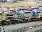 CSXT GE C40-8W 7362