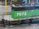 HLCX EMD SD40-2 7073