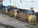 UP GE AC4400CW-CTE's 5961 & 5665 & CSXT EMD SD70MAC 4702
