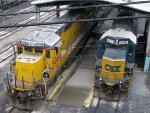CREX GE C40-8 9064 & CSXT EMD SD50-2 8551