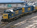 CSXT EMD GP40-2 6980 & EMD Road Slug 2380