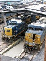 CSXT GE ES40DC 5234 & EMD GP38-2S 4422