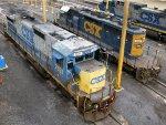 CSXT GE C40-8 7527 & EMD SD40-2 8854