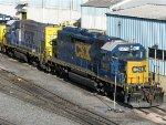 CSXT EMD SD40-2 8476 & EMD GP15-1 1540