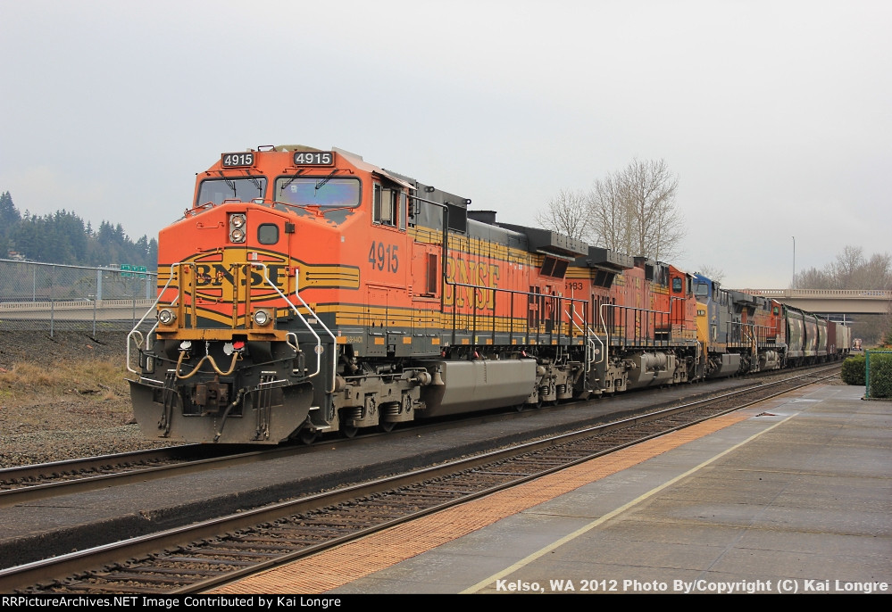 BNSF 4915 at Kelso, WA