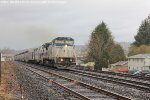 Amtrak 11 at Kelso, WA with Dash 8 and PH IV Heritage Unit