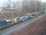 CSX with army vehicles
