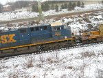 CSX  in the snow