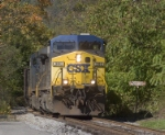 CSX 380 with a trainload of Georges Creek coal