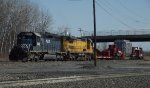 CSX High and Wide load with Leased Power