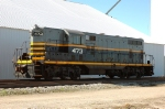 Frontier CO-OP 473, is ex BRC 473 GP7, works the grain elevator