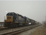 CSX 6 units in snow
