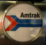 Old Amtrak Drumhead on Exhibit Train