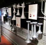 Air horn Display in the Amtrak Exhibit Train