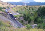 MRL 4301 leading the LAU-MIS just before entering the East portal of Bozeman Pass